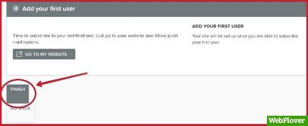 send push notifications from wordpress site